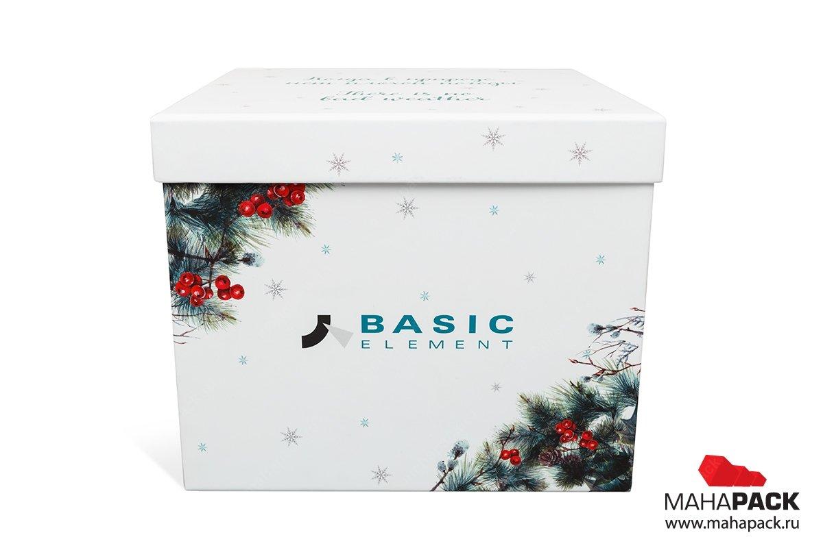 упаковка подарочного набора кашированная коробка