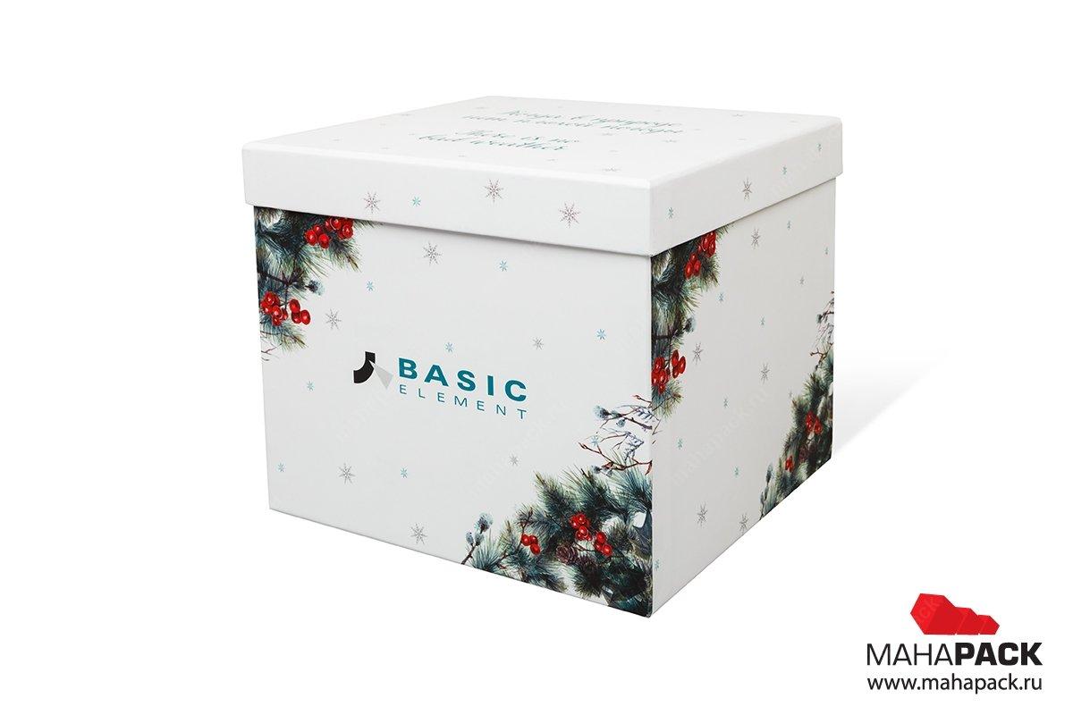 упаковка подарочного набора на корпоративный праздник