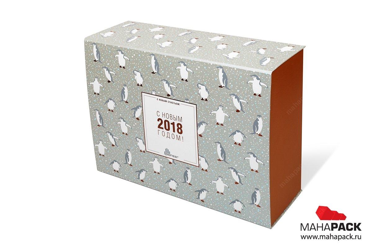 упаковка подарочная коробка с клапаном на магните