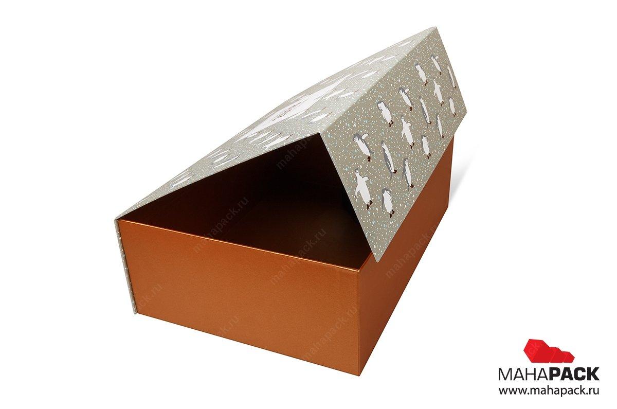 упаковка с клапаном на магните подарочная коробка