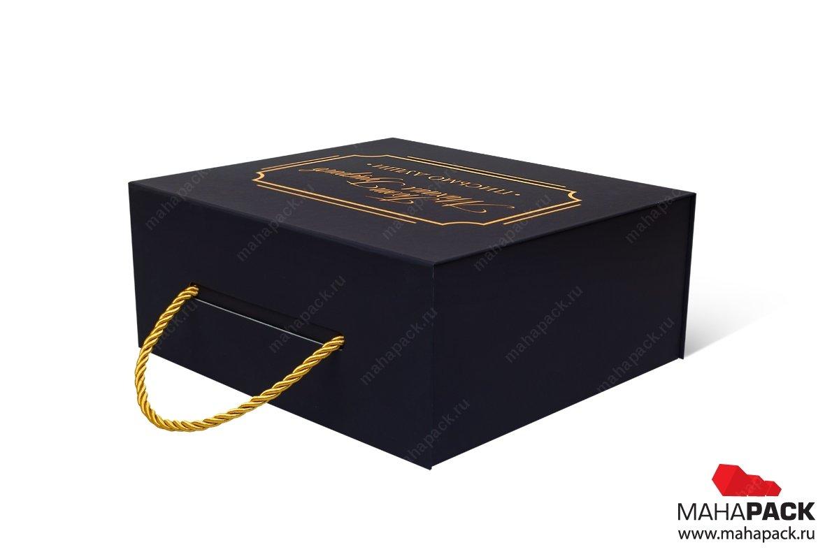 подарочная упаковка с логотипом тиснение золотом