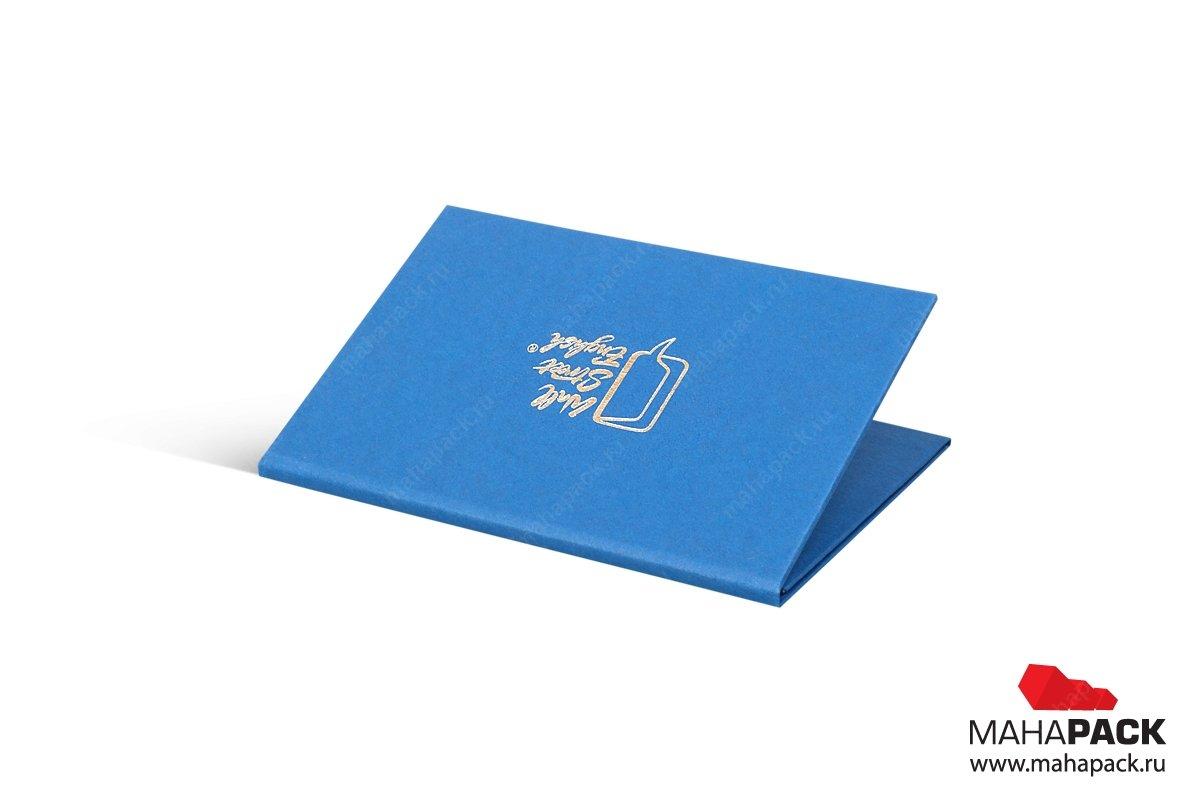 коробка с тиснением для карт пластиковых
