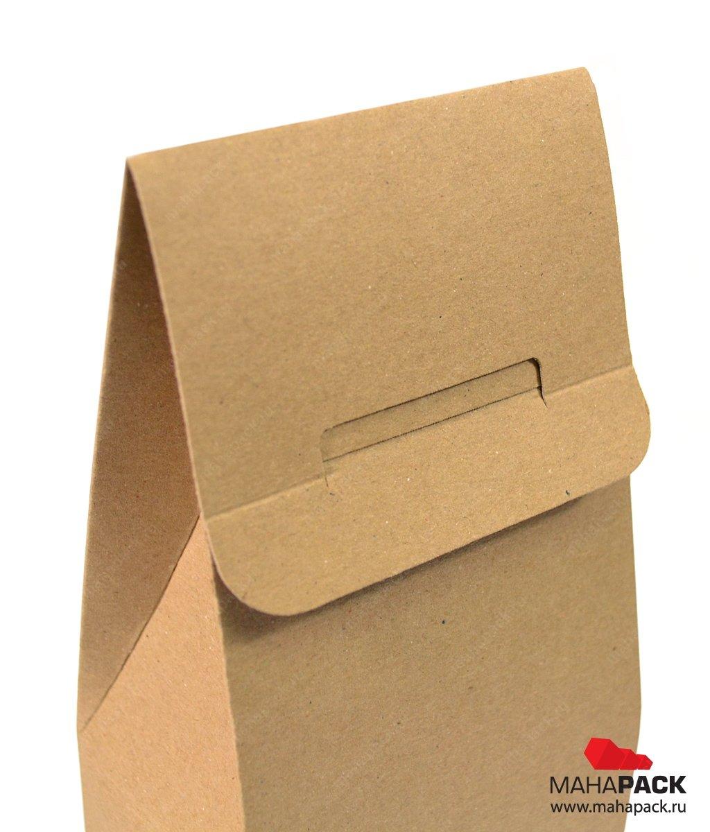 Экологичная коробка-пакет с вырубным узором