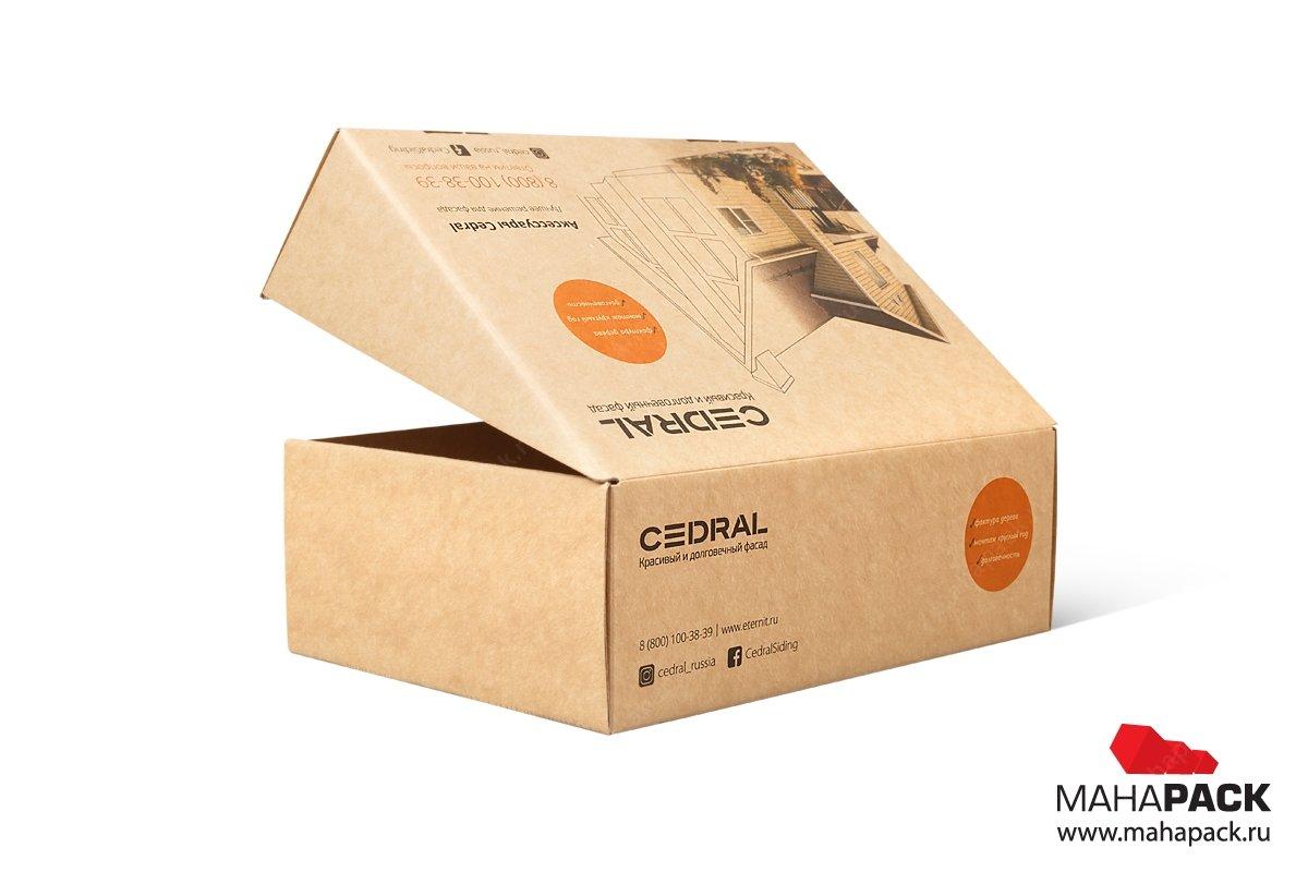 картонная упаковка самолет с логотипом из мгк