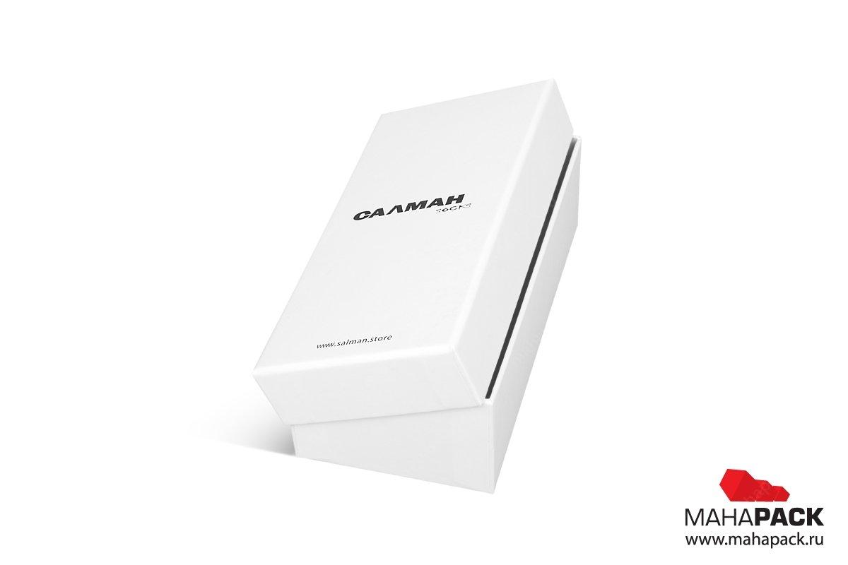 заказать упаковку с логотипом коробка крышка-дно