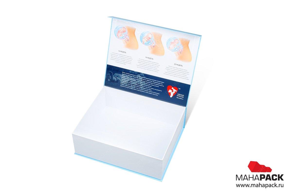 коробки с откидной крышкой матовая ламинация