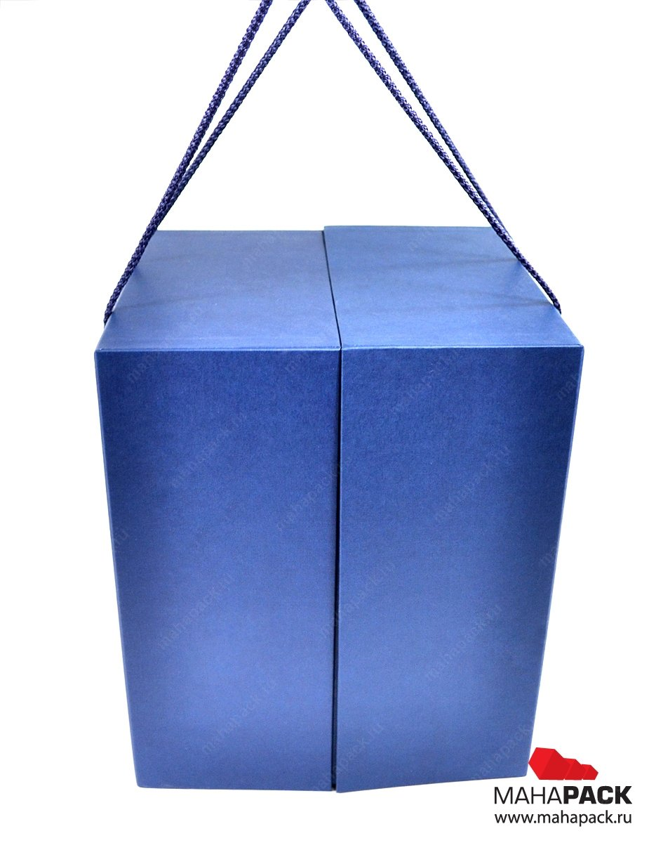 Кашированная коробка-трансформер для деда мороза