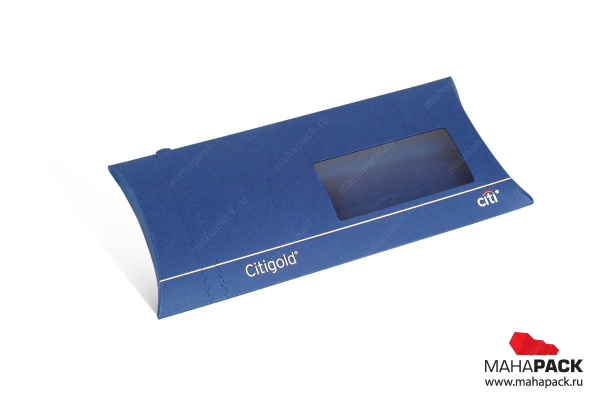 картонная упаковка на заказ конверт-пирожок