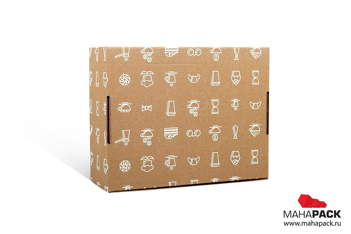 коробка самосборная с печатью