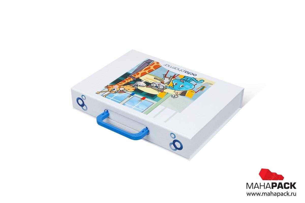 Коробка с ручкой дизайн и производство