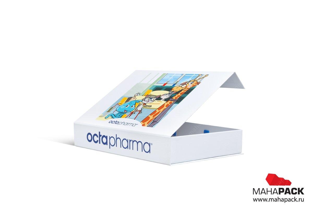 Коробка с ручкой полноцветная печать