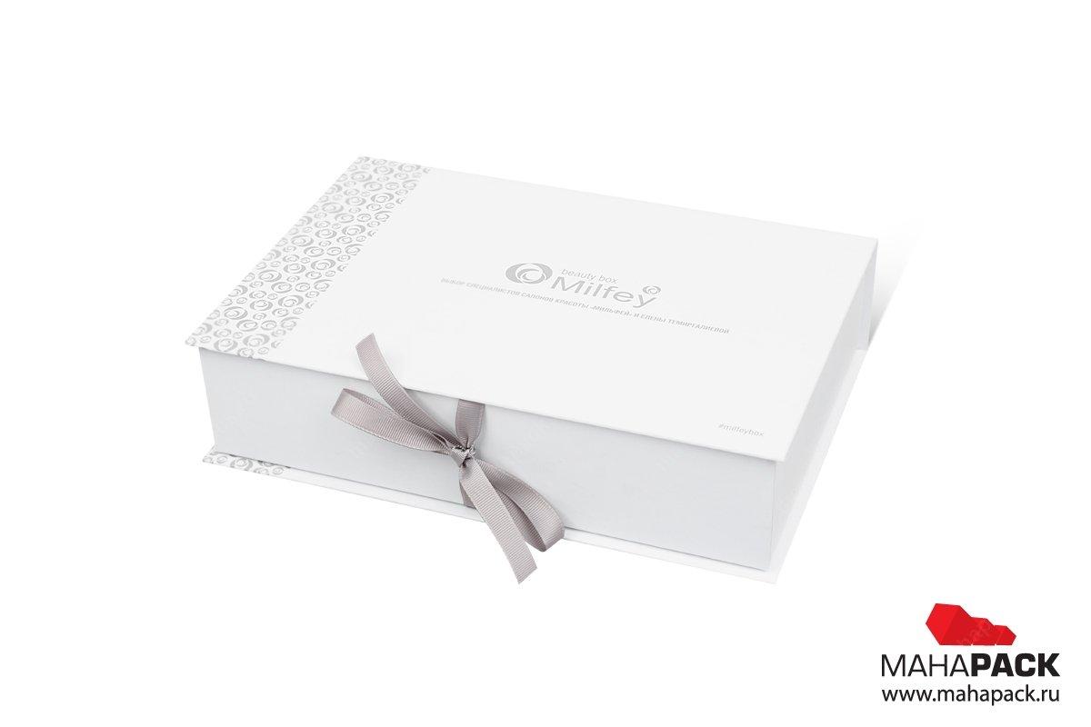 книга коробка с репсовыми лентами