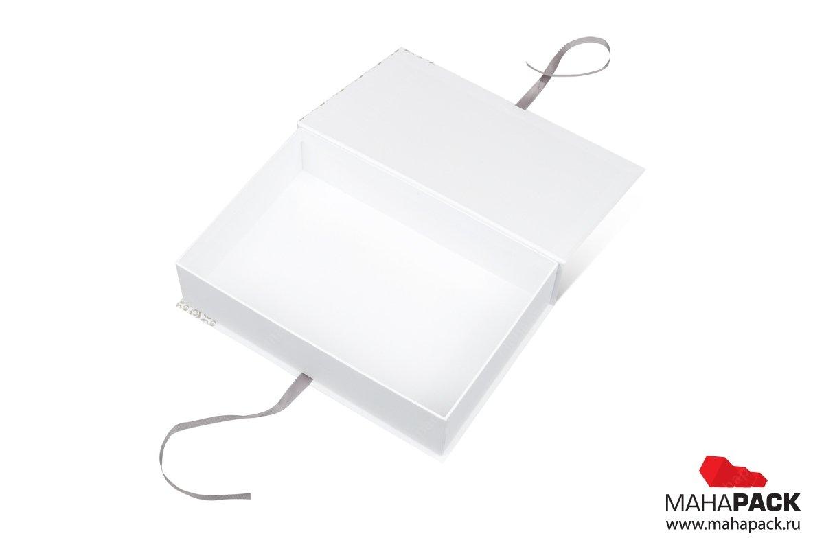 книга коробка кашировка мелованной бумагой