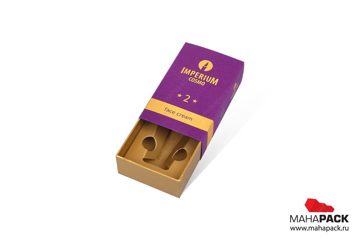 коробки с ложементом и картонным шубером