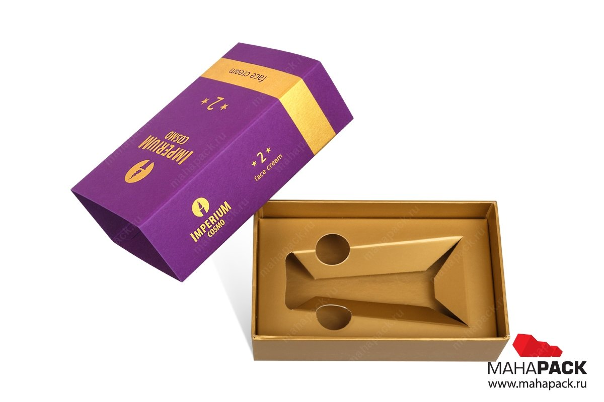 коробки с ложементом из запечатанного картона