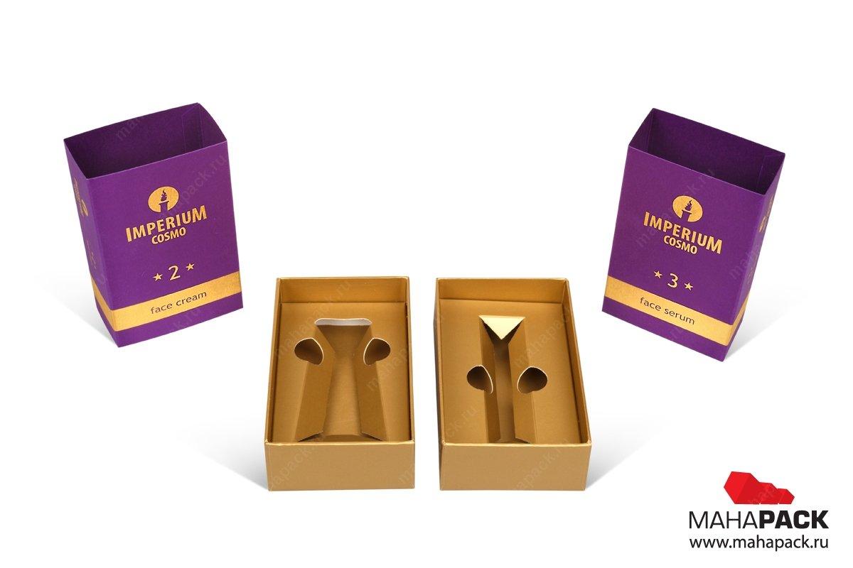 коробки с запечатанным картонным ложементом с вырубкой