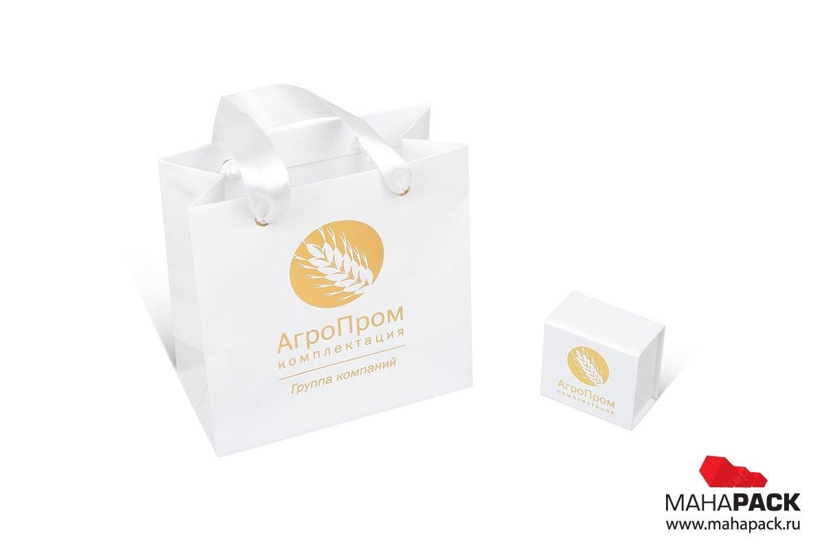 корпоративная упаковка набор из коробки и пакета