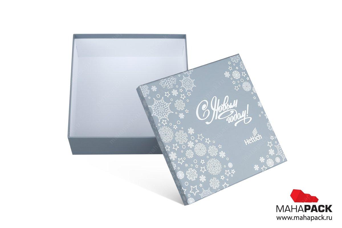 подарочные упаковки с логотипом и матовой ламинацией