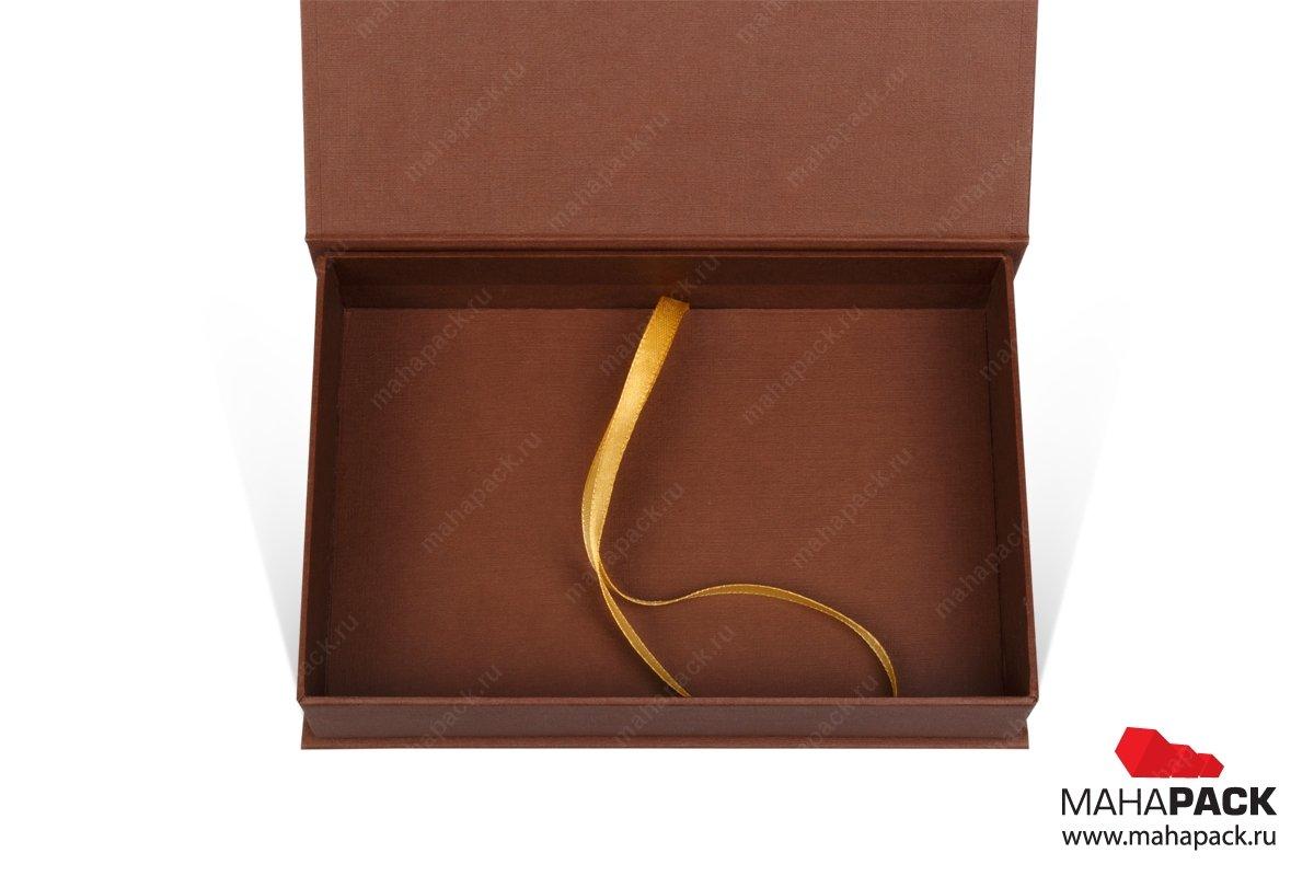 изготовление коробочки с атласной лентой