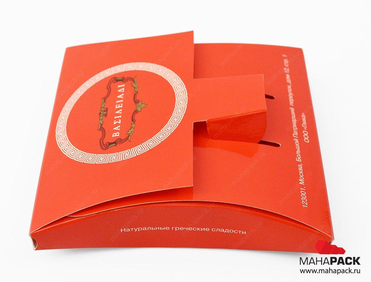 Самосборная картонная упаковка с замком