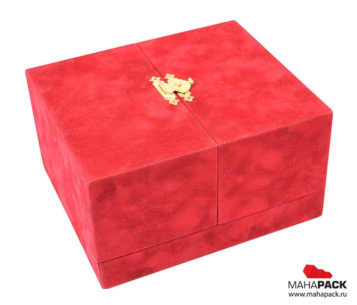 Подарки упаковка бархат