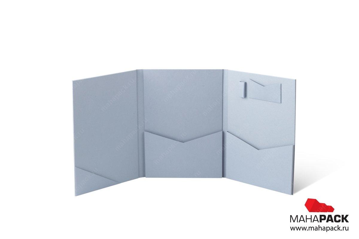 кашированная дизайнерская папка бизнес-папка
