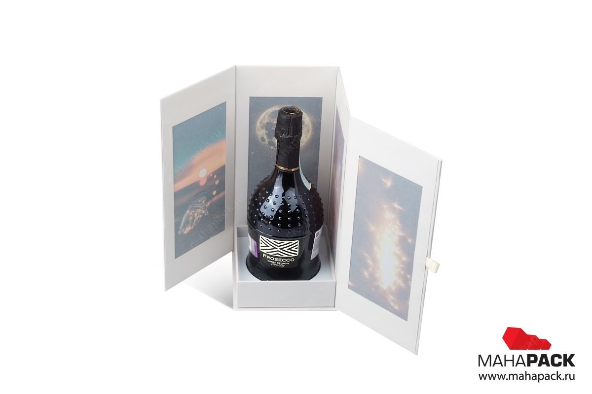 подарочная упаковка из картона для бутылки
