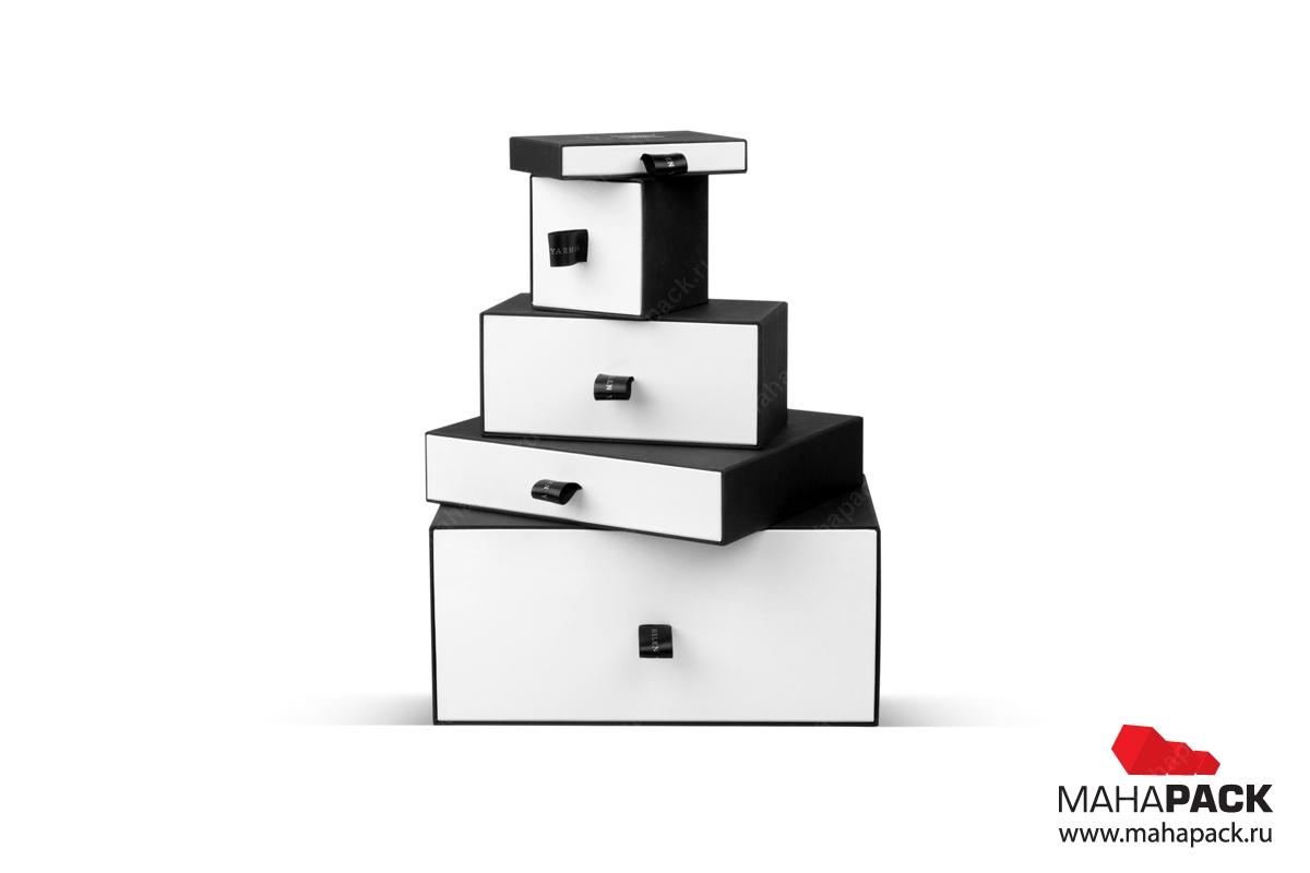 Коробка-пенал с выдвижным ящиком и язычком