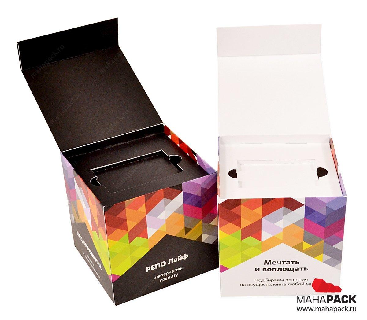 Промоупаковка-куб для флешки