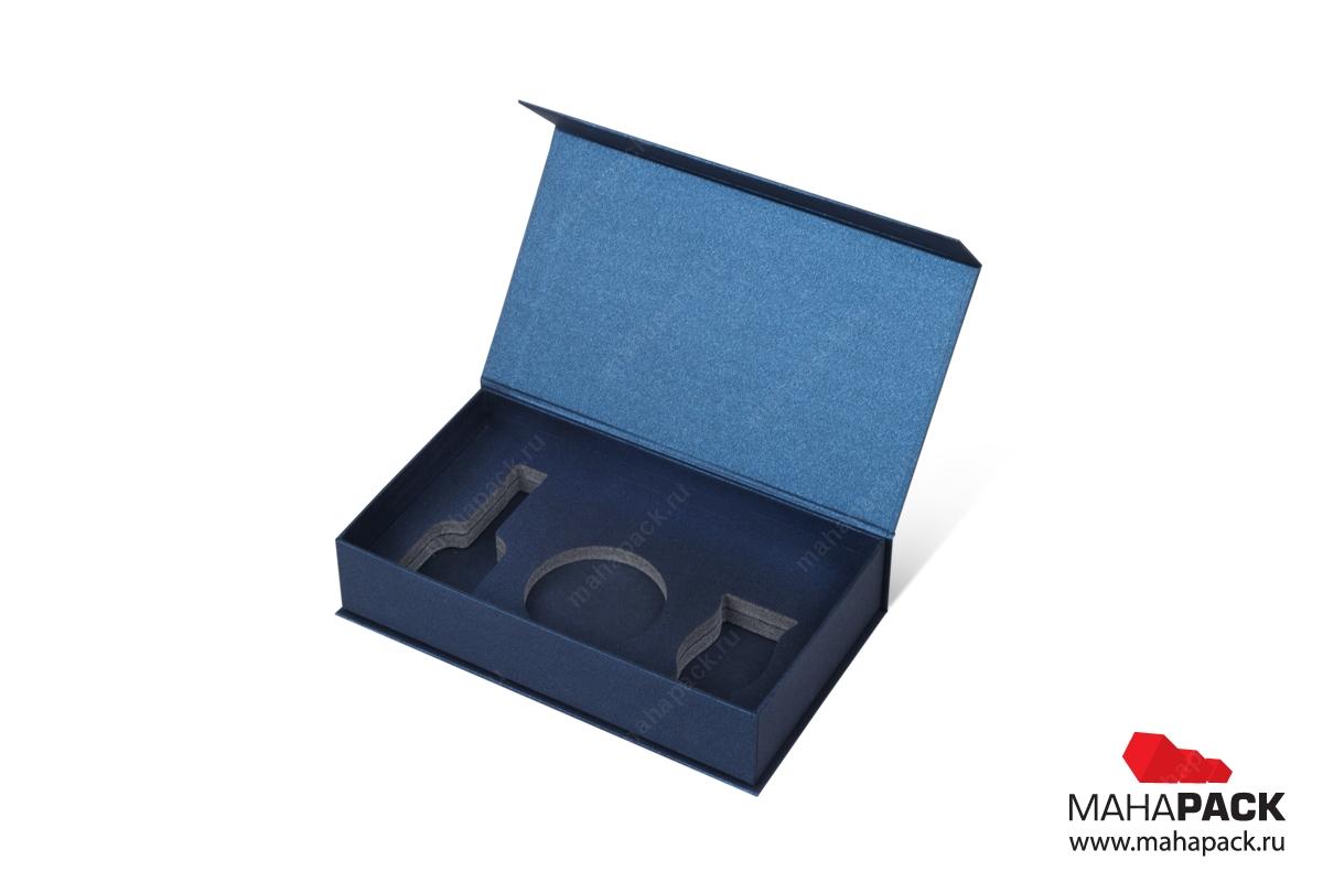 коробки на заказ с клапаном на магните