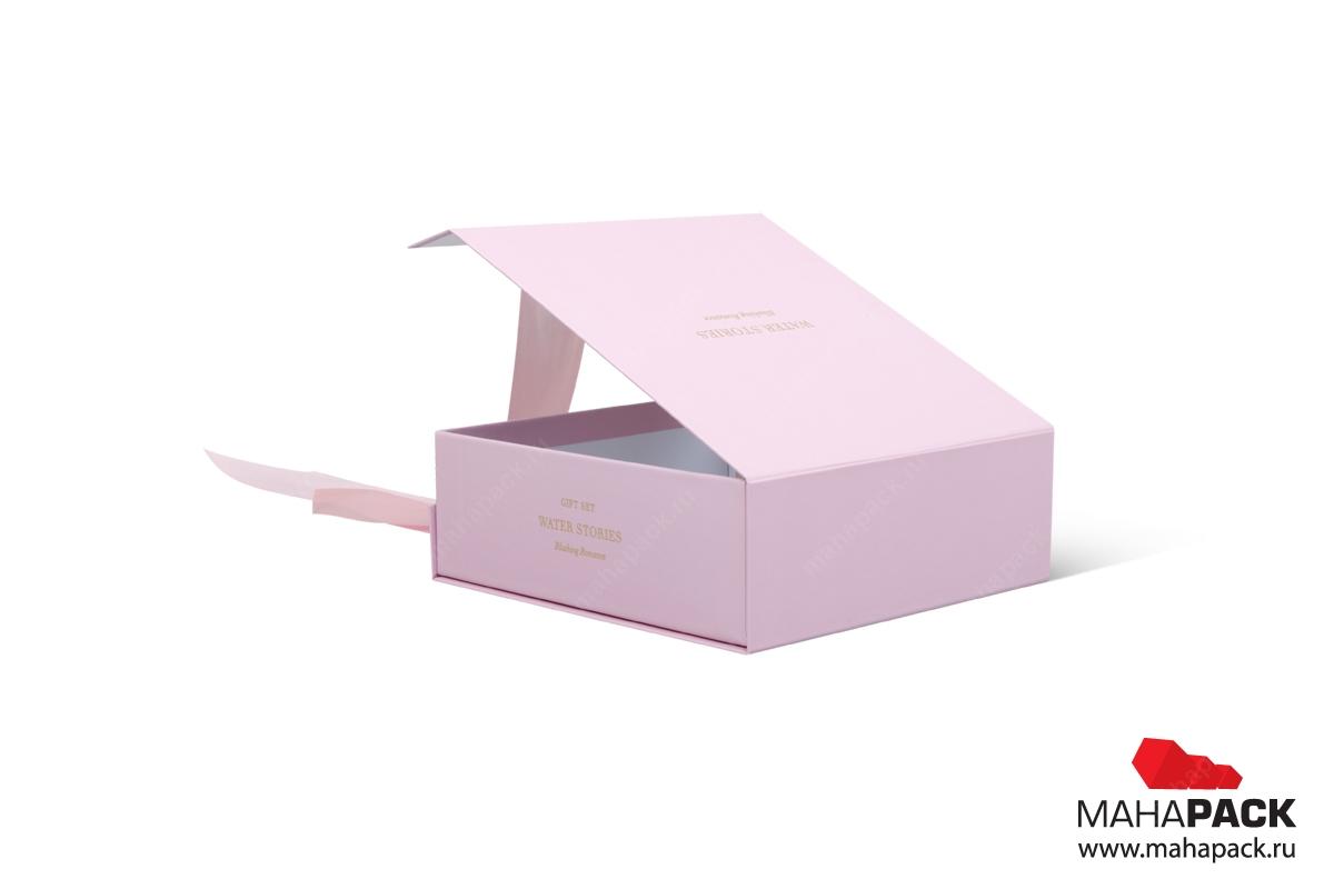 кашированная упаковка с ложементом под косметику
