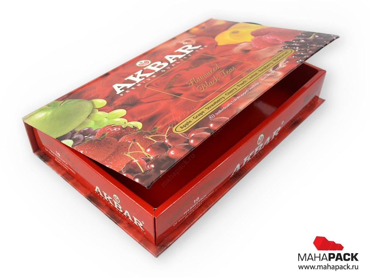 Кашированная коробка-книжка с картонным ложементом