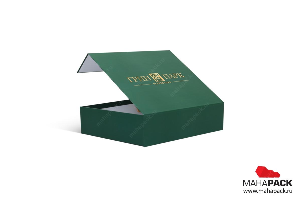 производство подарочных коробок с логотипом коробка-чемодан