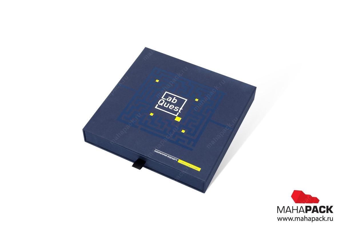 изготовление коробок с логотипом из переплетного картона
