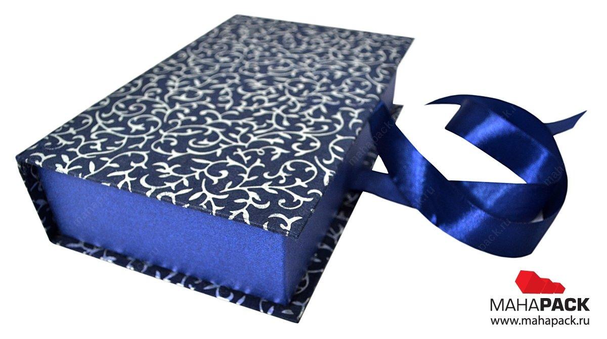 Коробка-книжка с бантом из ленты