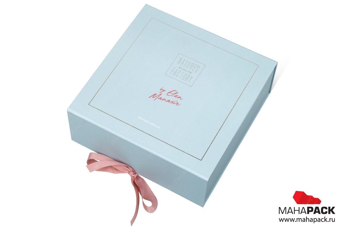 коробка на лентах в Москве – производство на заказ.