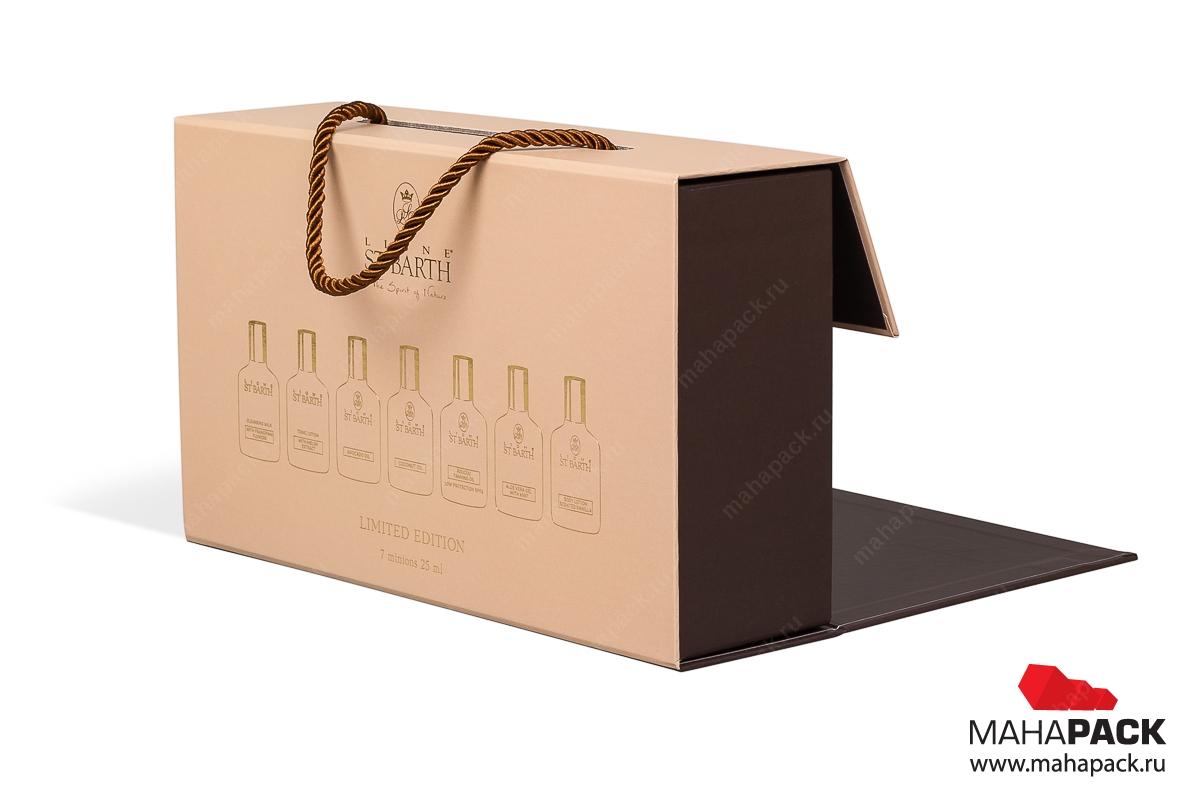изготовление коробки с логотипом для косметики