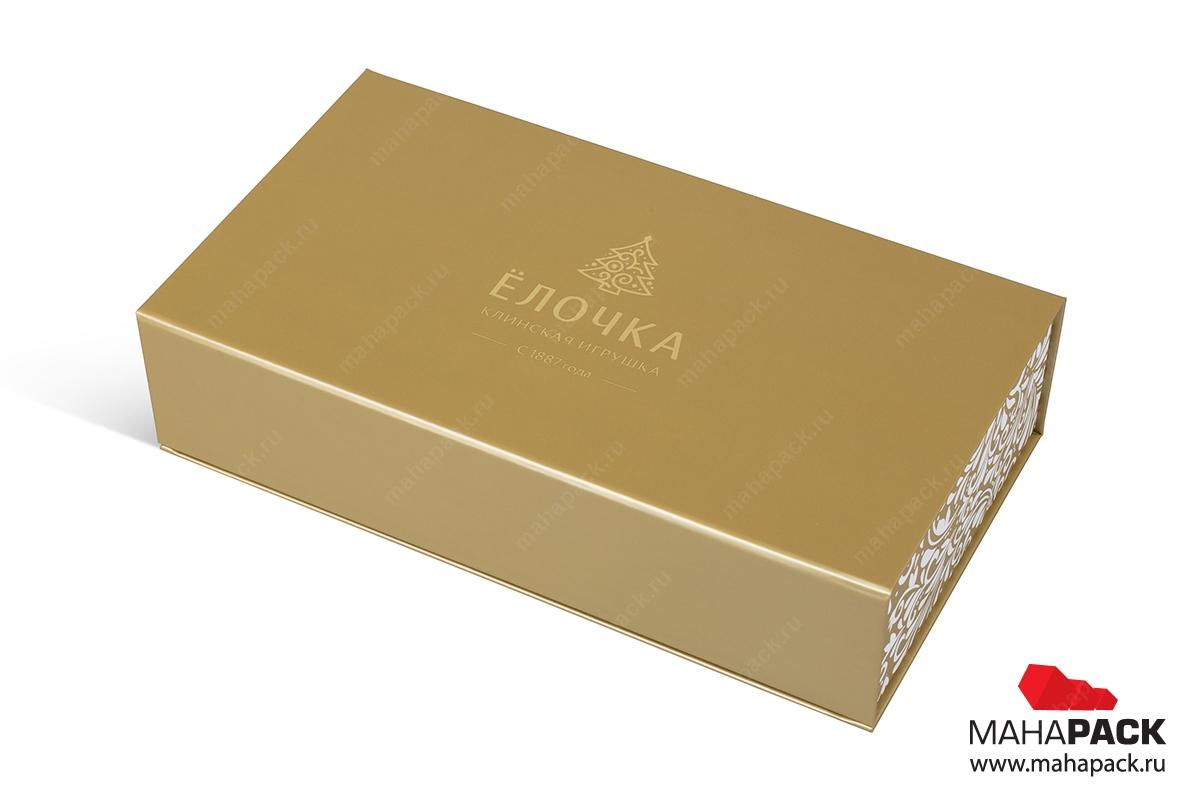 кашированная подарочная коробка на магните