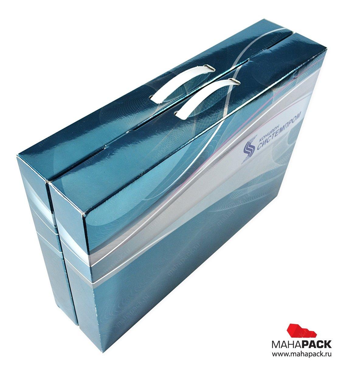 Кашированный портфель для комплекта продукции, изготовление коробок на заказ