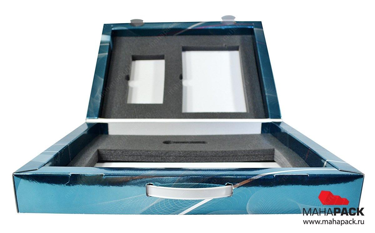 Кашированный портфель для комплекта продукции, промоупаковка для выставок