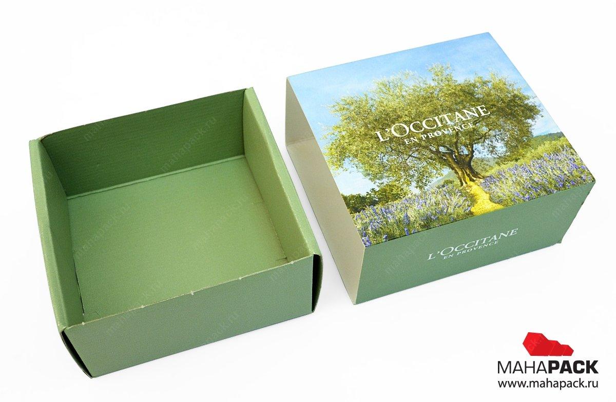 Самосборная картонная коробка