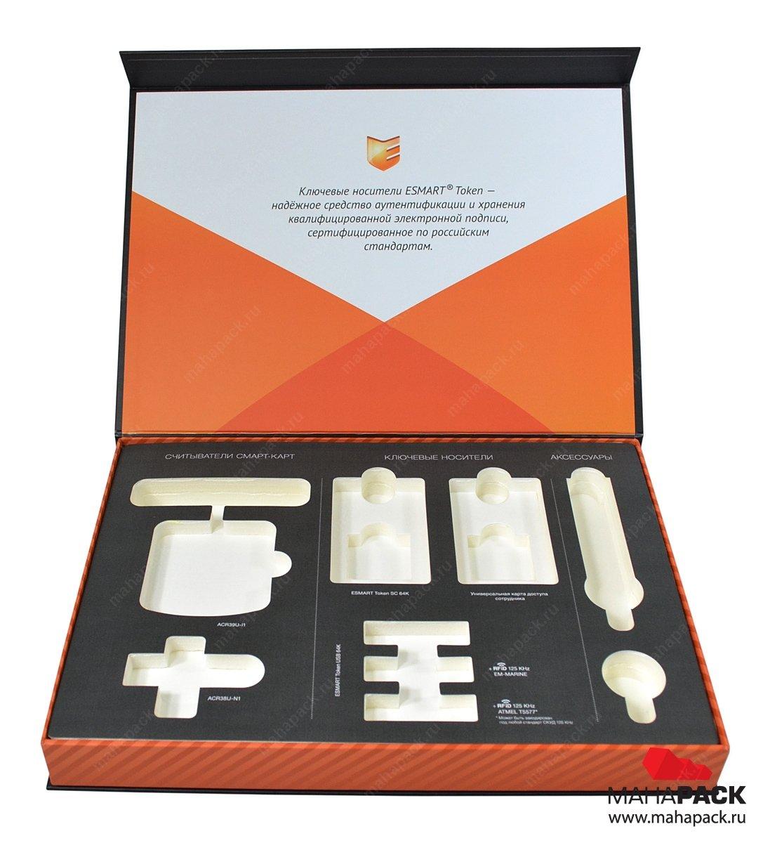 Кашированная упаковка с двухуровневым ложементом