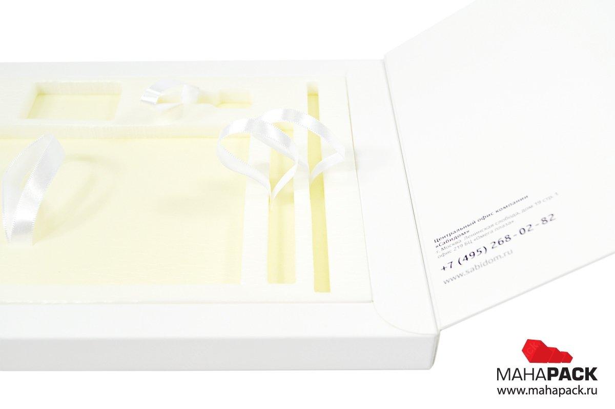 Картонная упаковка с ложементом на заказ