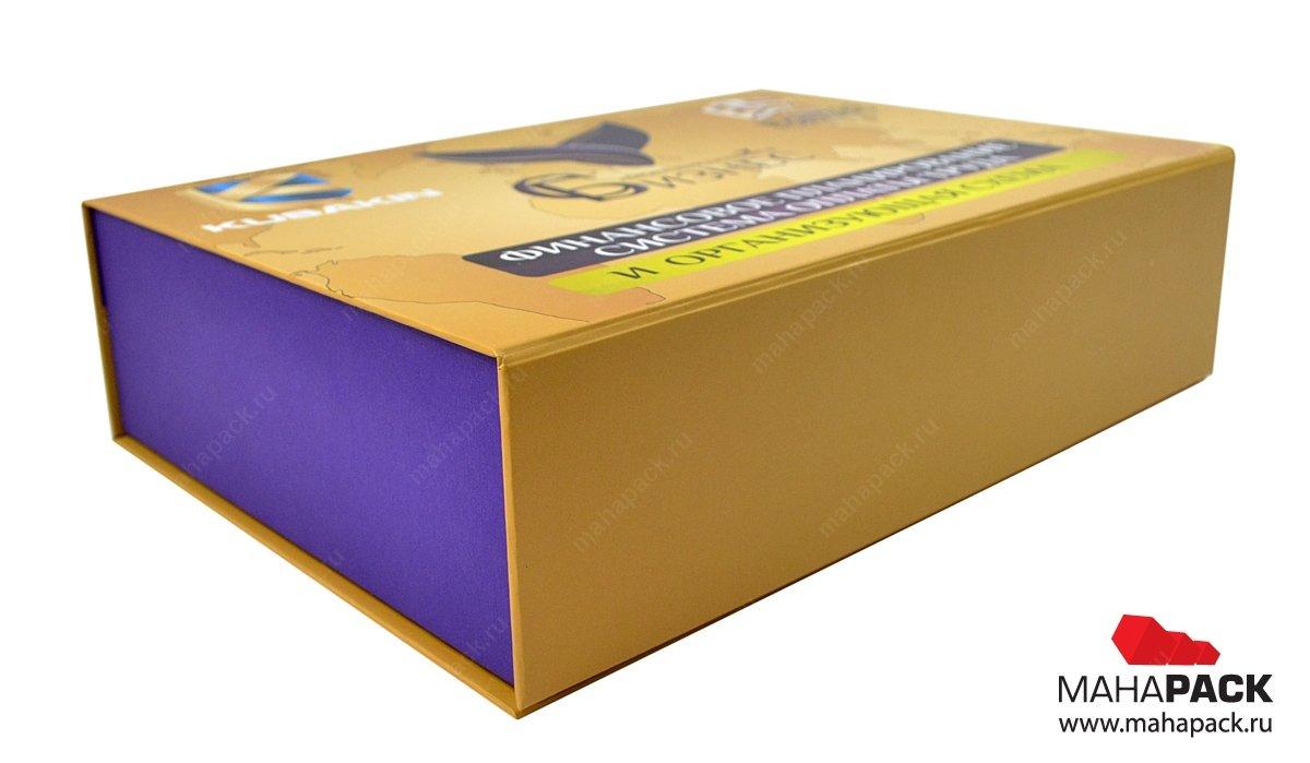 Кашированная коробка, заказать подарочную коробку с клапаном на магните