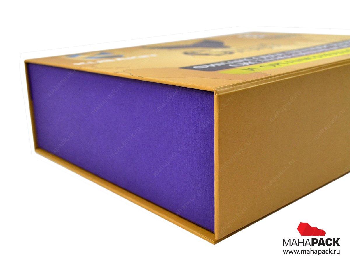 Кашированная коробка, производство подарочных коробок с клапаном на магните