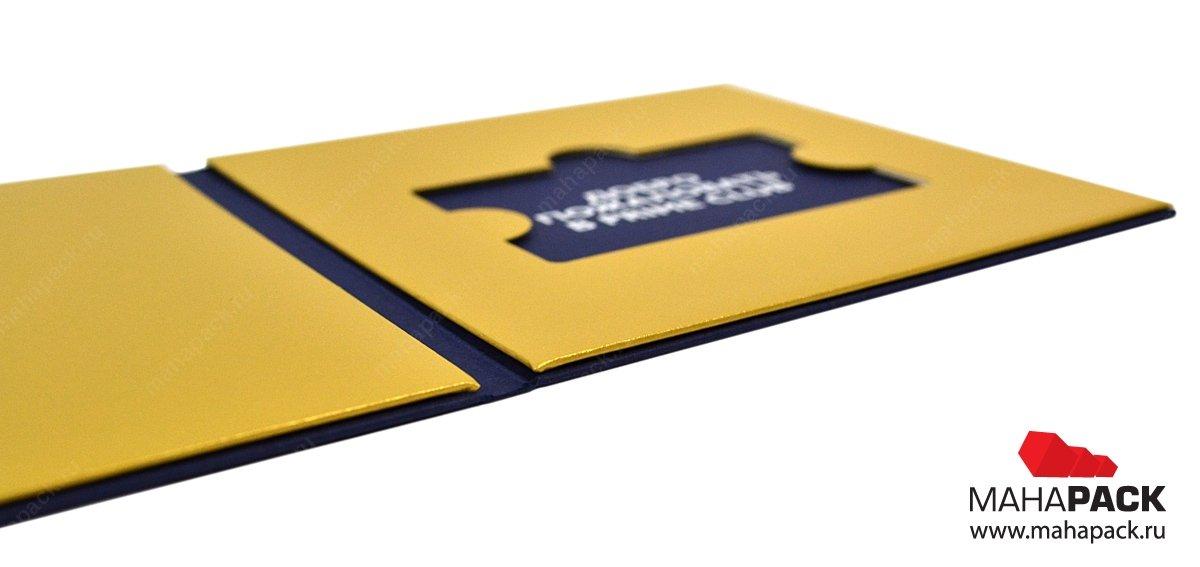 Производство упаковки для пластиковых карт на заказ