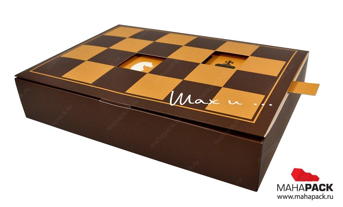 Фирменная коробка, подарочная упаковка с интерактивным эффектом