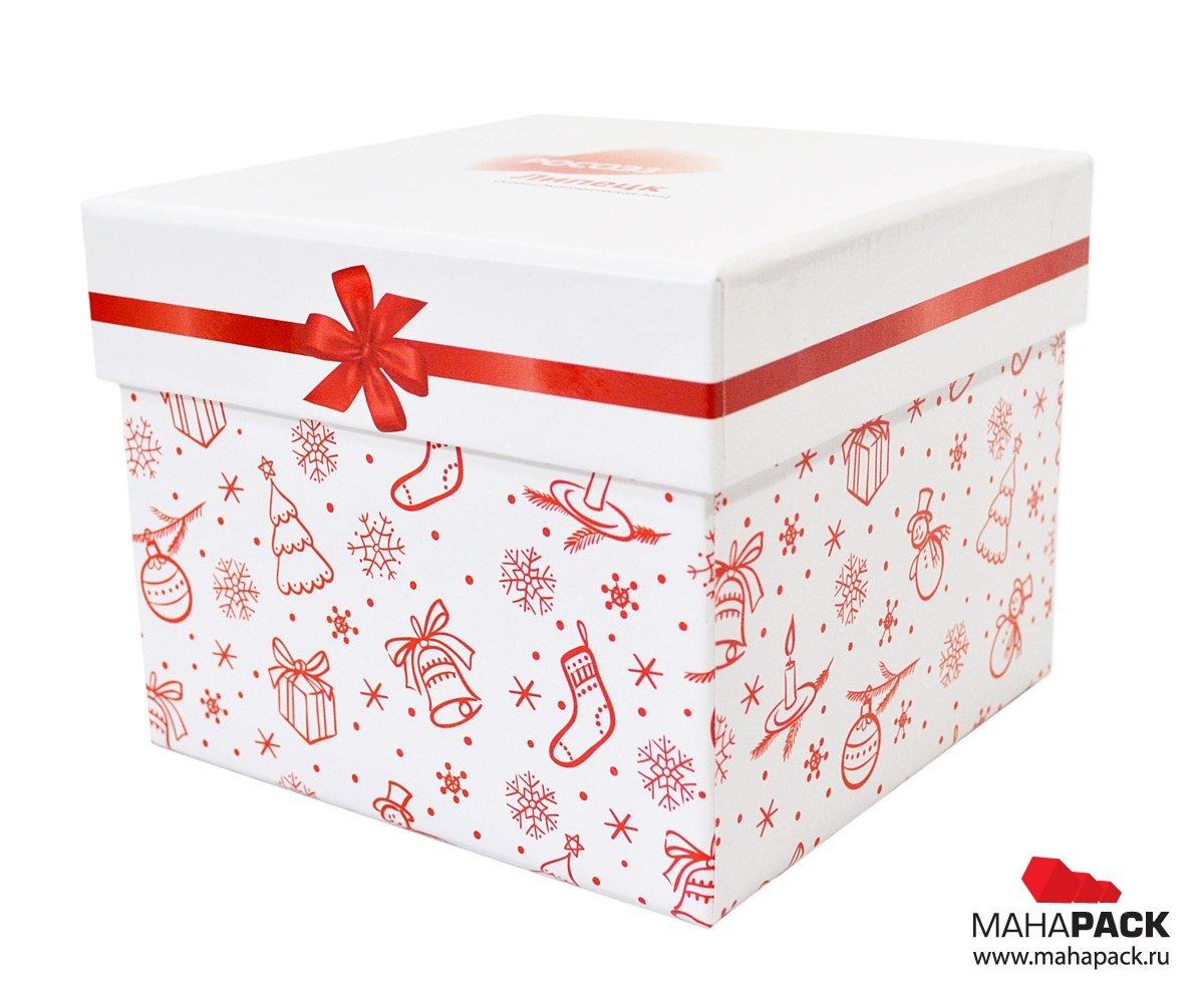 Кашированные коробки крышка-дно на заказ