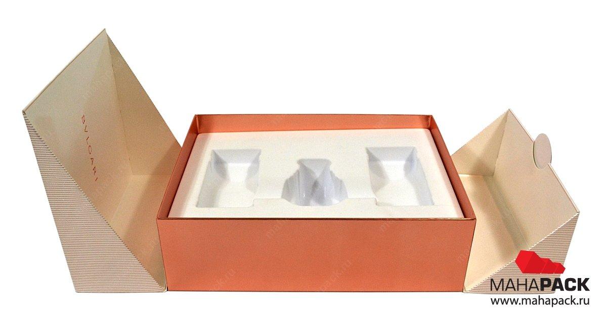 Подарочная коробка, изготовление коробок с ложементом для косметики