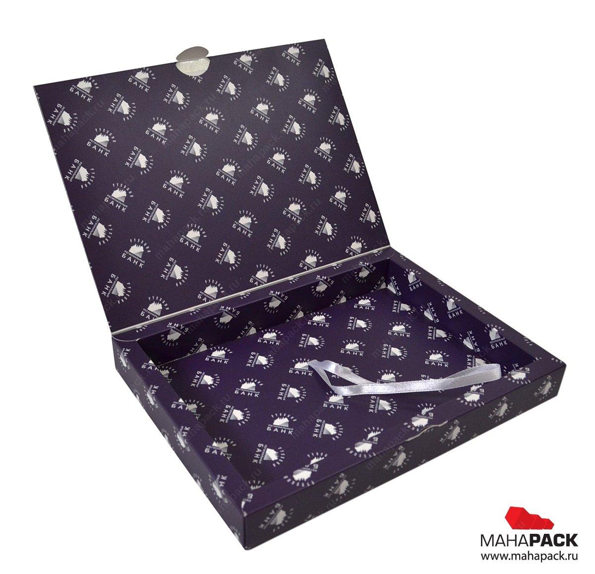 Подарочная коробка: лого на упаковке повторяется и складывается в красивый узор